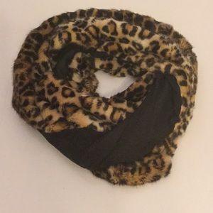 Accessories - Cheetah Print Faux Fur Infinity Scarf
